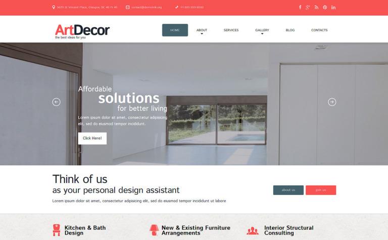 Tema de WordPress #51816 para Sitio de Diseño interior
