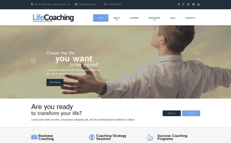 Tema de WordPress #51819 para Sitio de Life Coaches