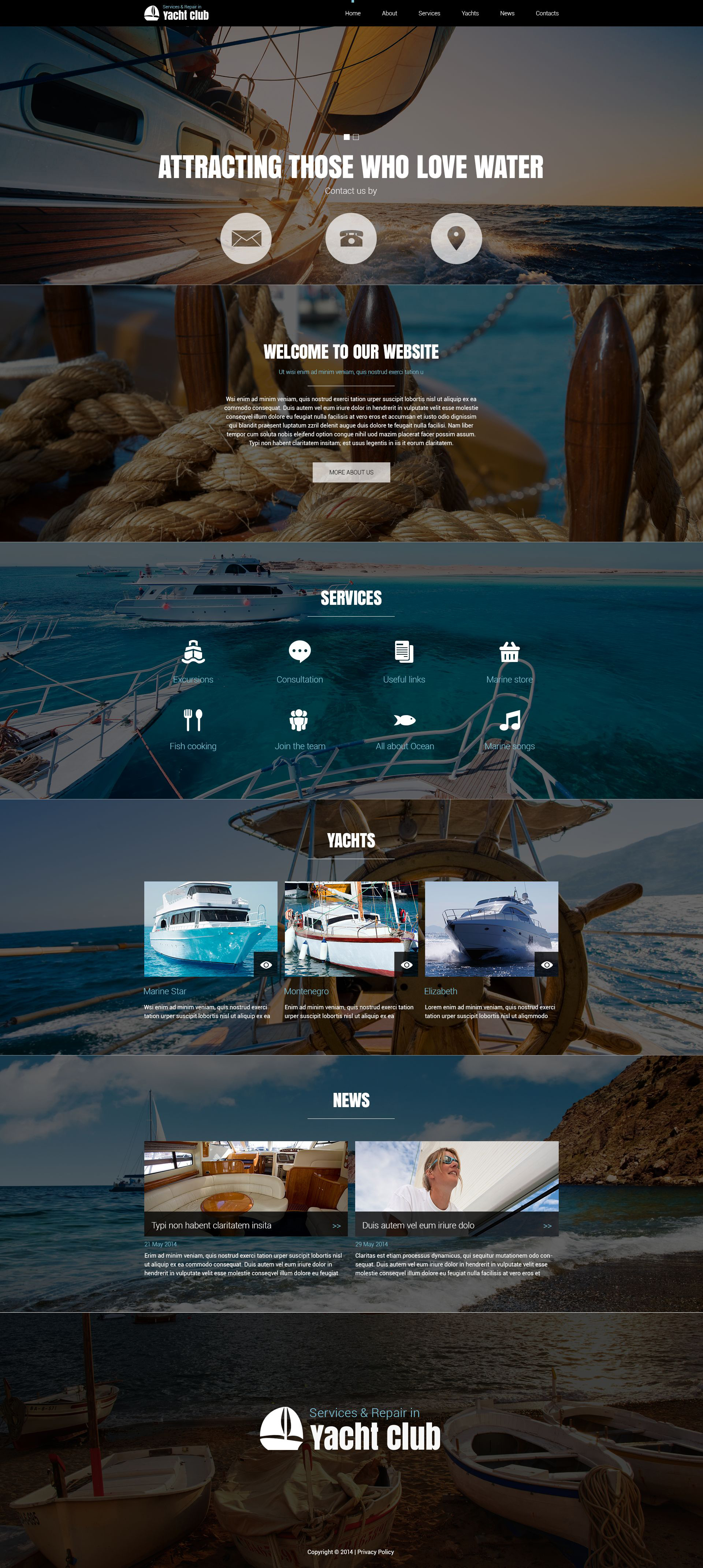 "Template Joomla Responsive #51835 ""Yachting Club"""
