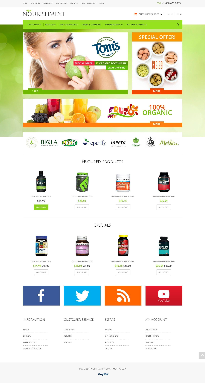 "Template OpenCart Responsive #51808 ""Health  Sport Nutrition"" - screenshot"