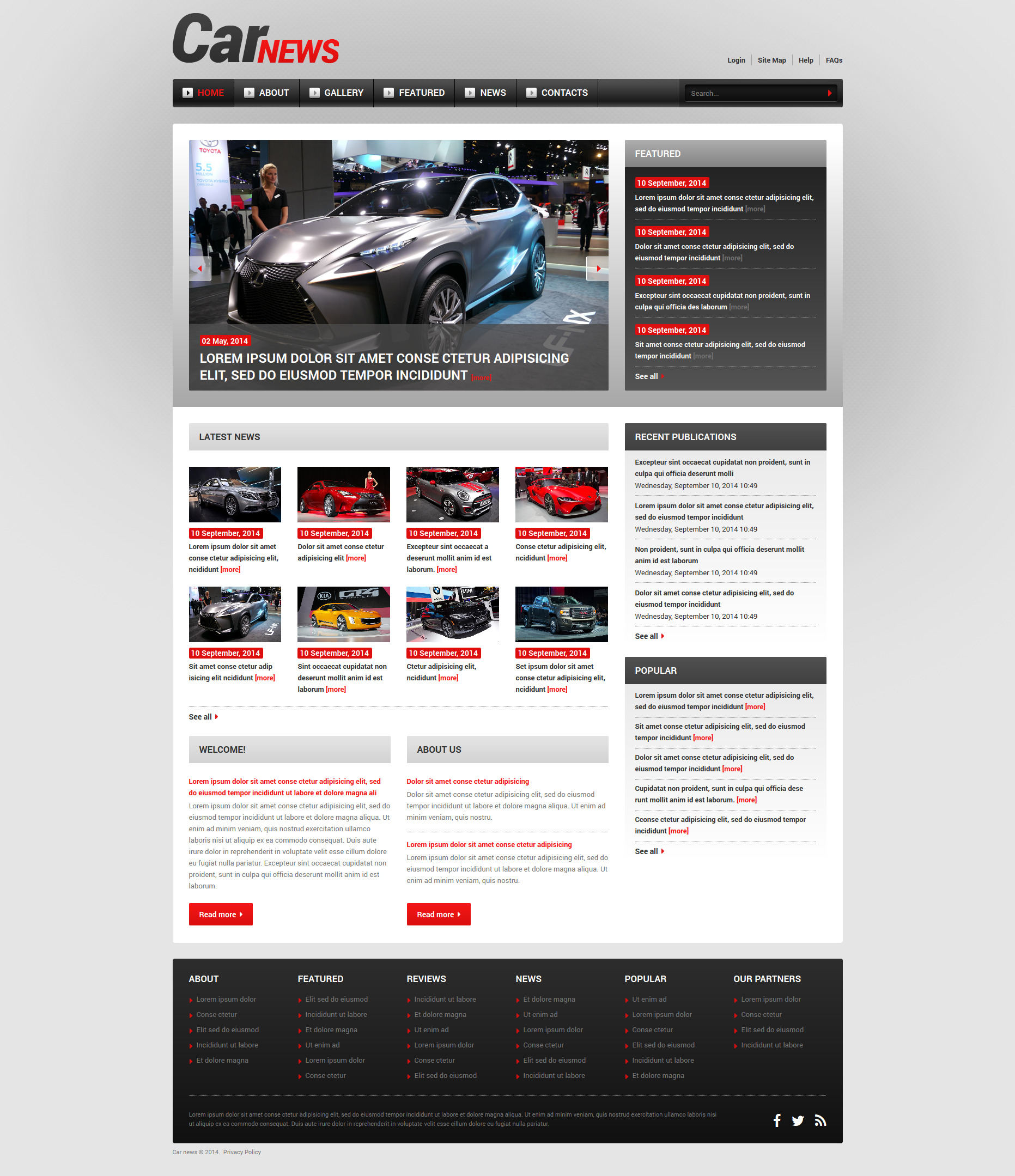 Thème Joomla adaptatif pour site d'automobiles #51846