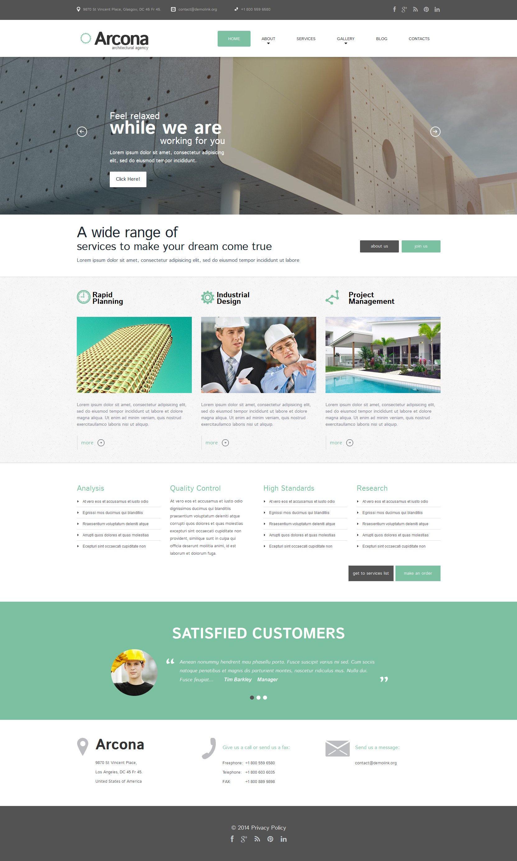 Thème WordPress adaptatif pour site d'architecture #51817