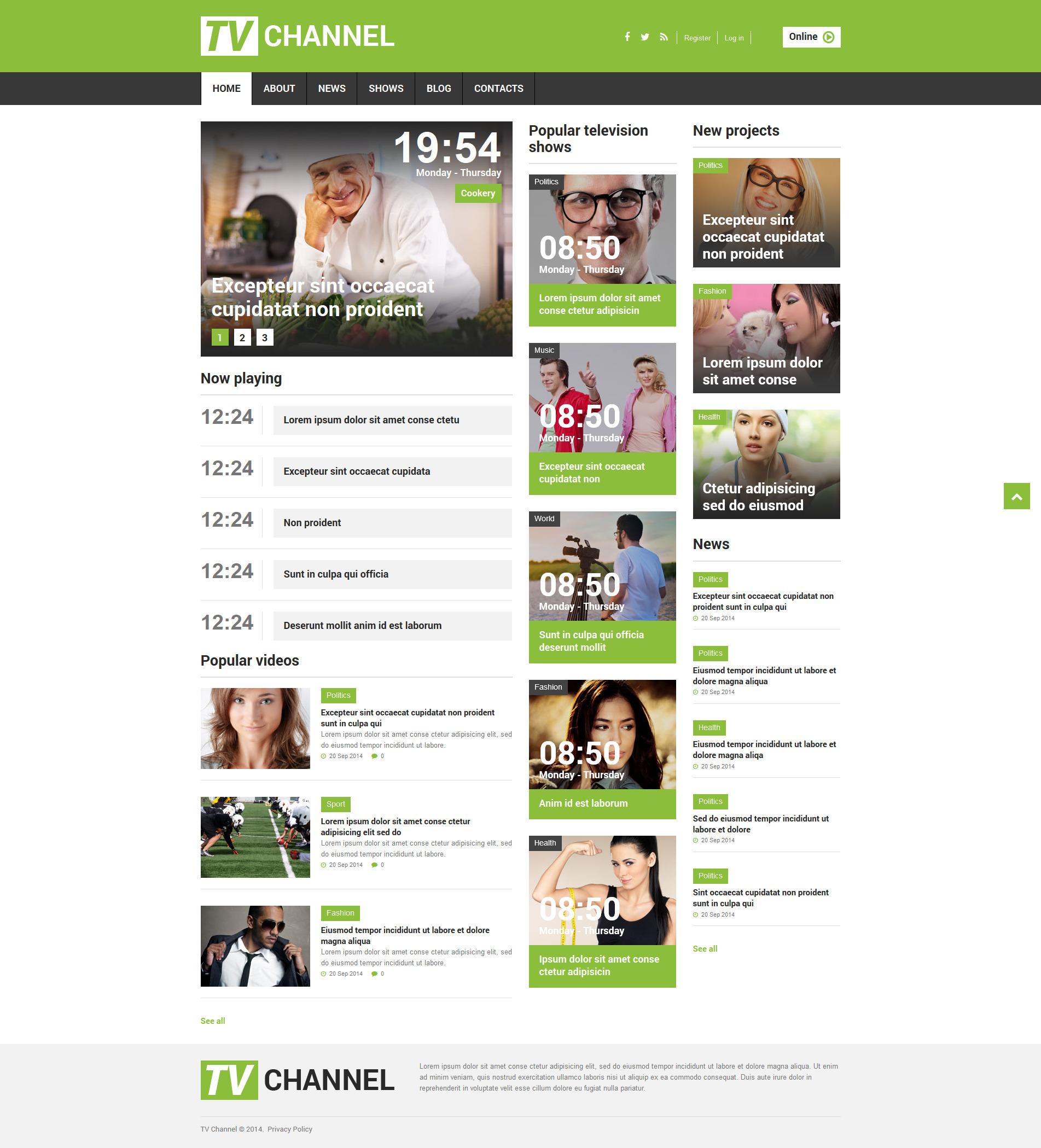 Tv Channel Responsive Joomla Template 51845