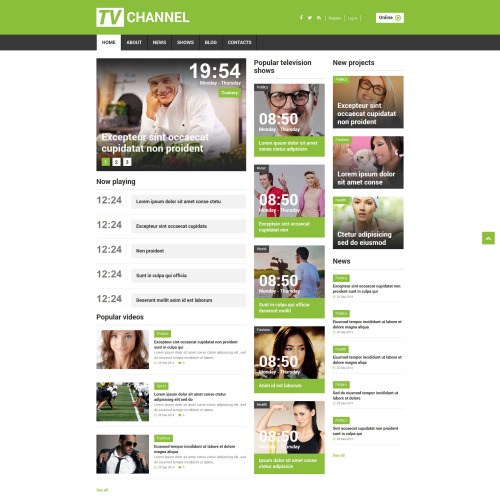 Tv Channel - Joomla! Template based on Bootstrap