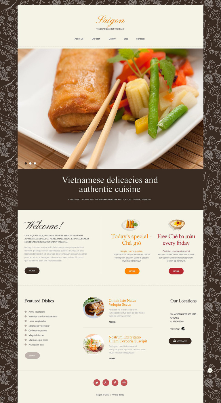 Vietnamese Restaurant Responsive Joomla Template New Screenshots BIG