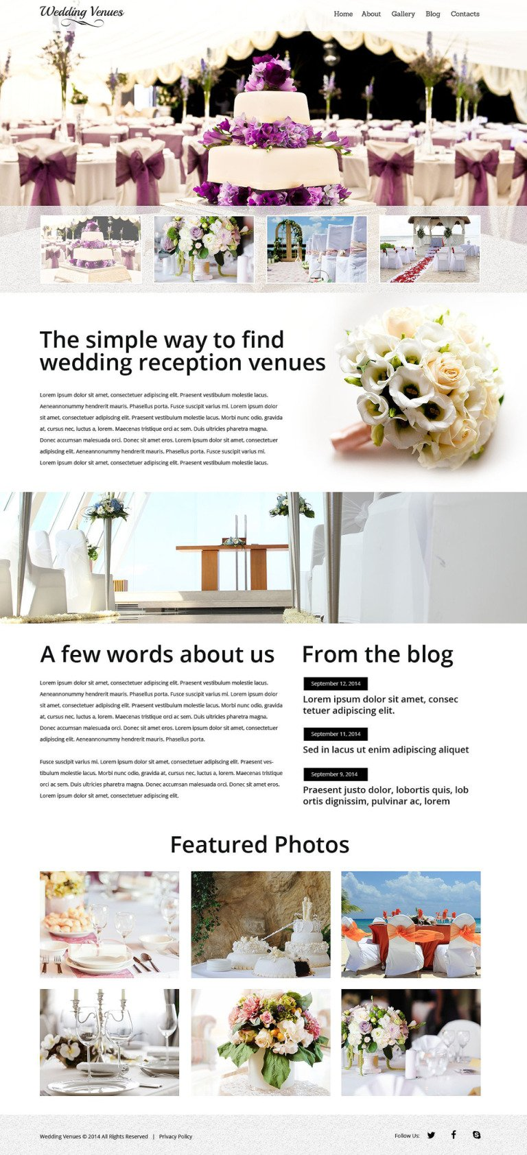Wedding Venues Responsive Website Template New Screenshots BIG
