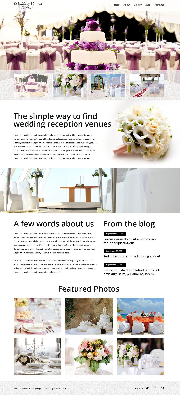Wedding Venues Responsive Website Template