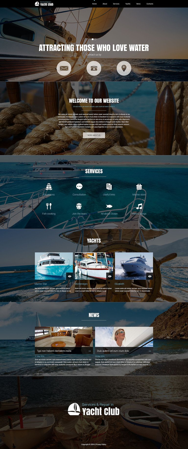 Yachting Club Joomla Template New Screenshots BIG