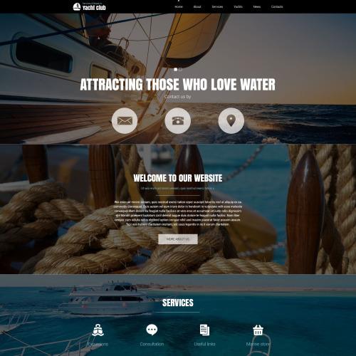 Yachting Club - Joomla! Template based on Bootstrap