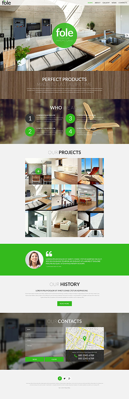 Download TemplateMonster 51901 Fole Furniture 20 Discount