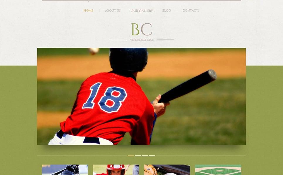 Reszponzív Baseball WordPress sablon New Screenshots BIG