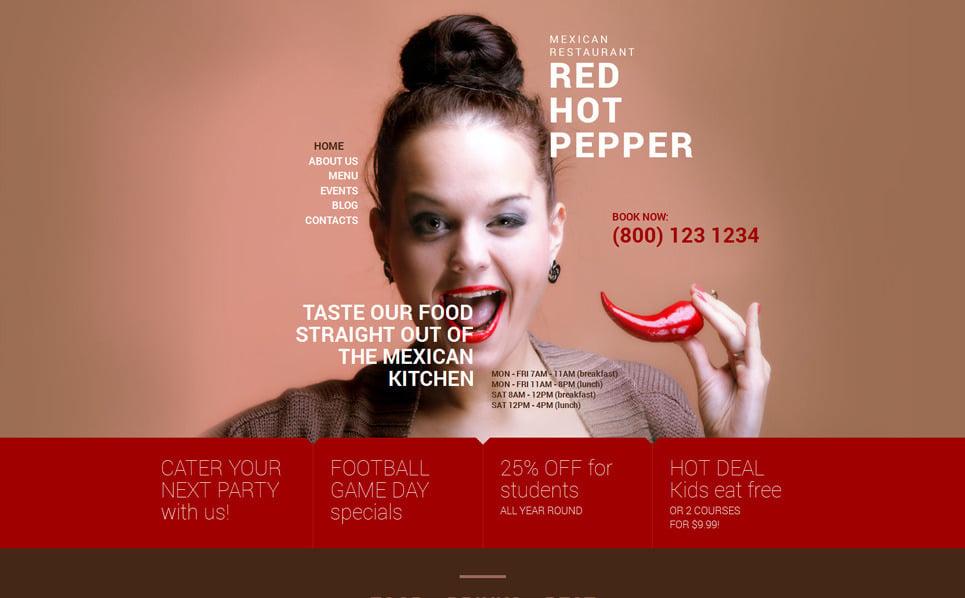 Reszponzív Mexikói éttermek WordPress sablon New Screenshots BIG