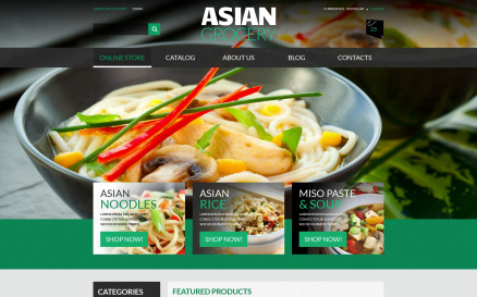 Asian Grocery Store VirtueMart Template