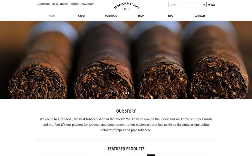 Modello WooCommerce Responsive #51920 per Un Sito di Tabacco New Screenshots BIG