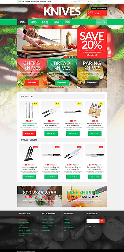 Magento Theme/Template 51921 Main Page Screenshot