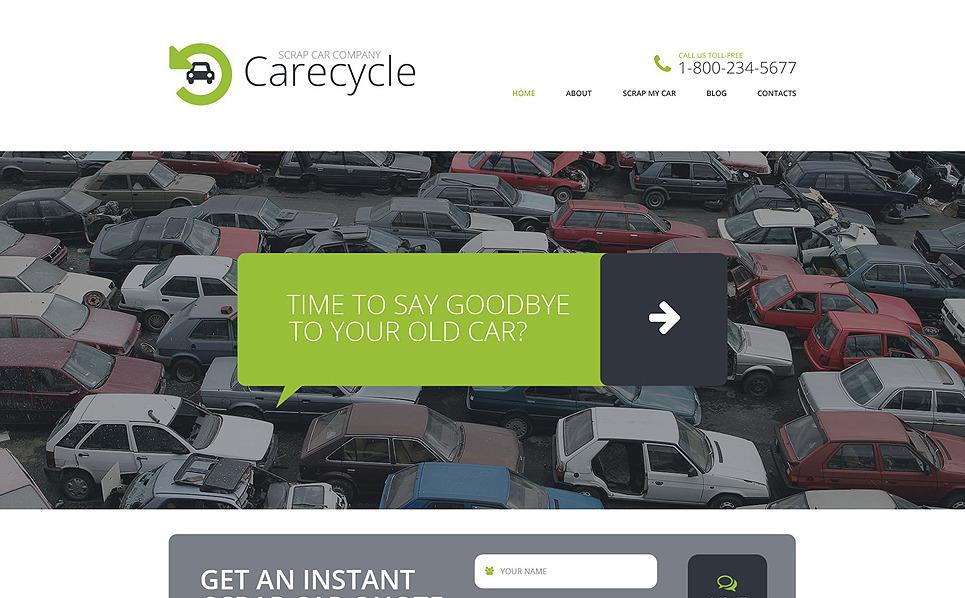 Reszponzív Autóbontó Weboldal sablon New Screenshots BIG