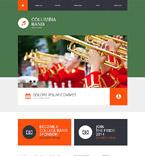 Music Website  Template 51927
