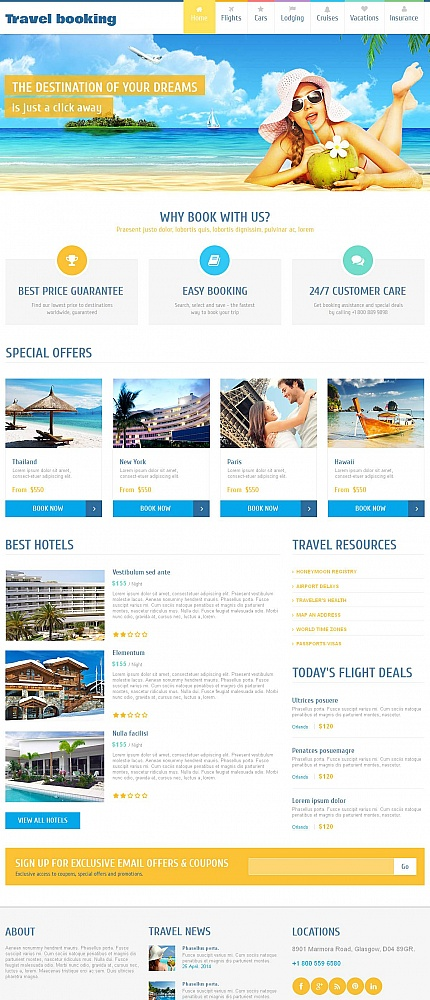 ADOBE Photoshop Template 51929 Home Page Screenshot