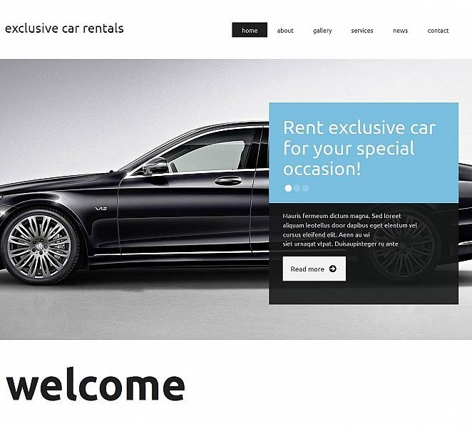 Template Moto CMS HTML para Sites de Aluguel de Carros №51938 New Screenshots BIG