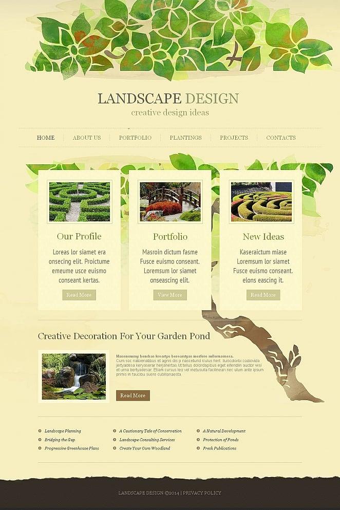 Garden Design Website Template - image