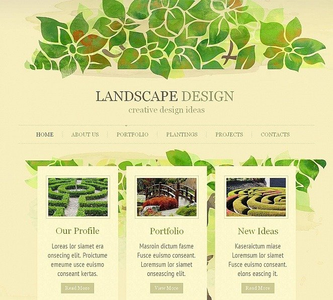 Template Moto CMS HTML para Sites de Design de Paisagem №51939 New Screenshots BIG