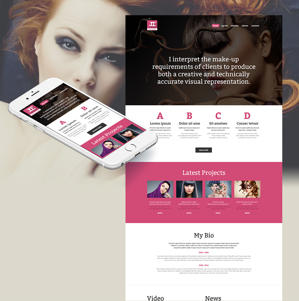 Website Template for Makeup Artist Portfolio - image