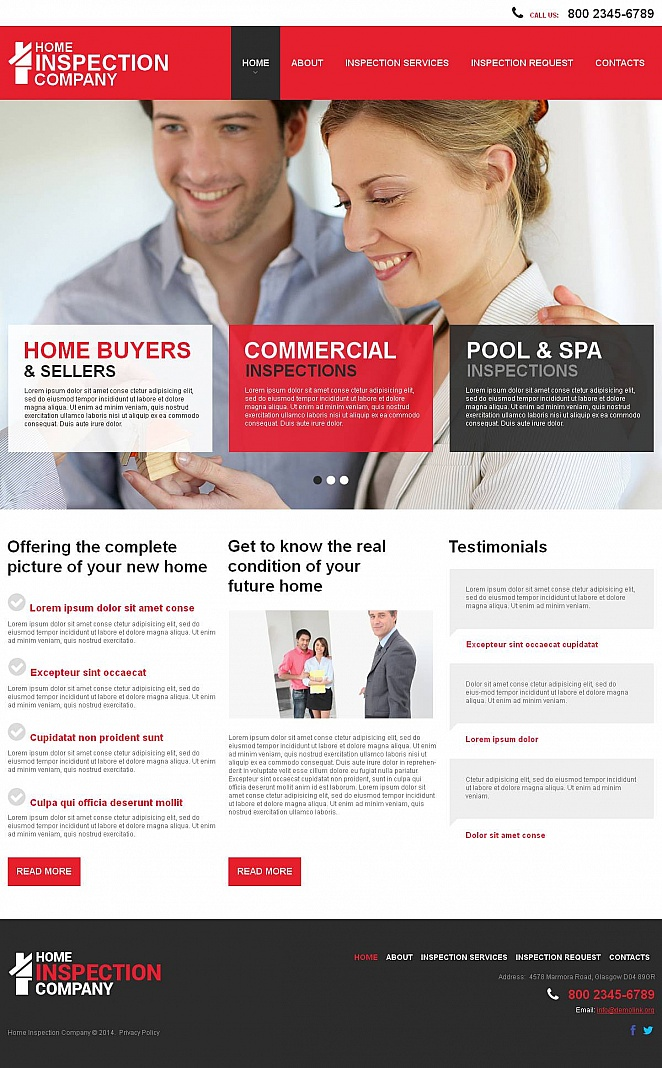 Home Inspection Website Template - image