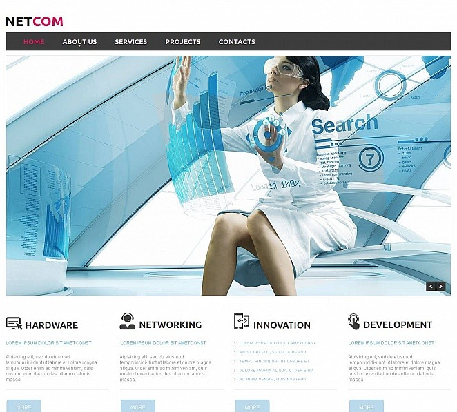 Premium Moto CMS HTML Template over Communicaties  New Screenshots BIG