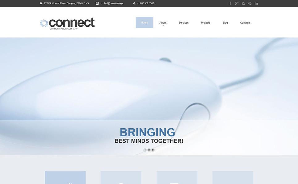 Responsive Joomla Template over Communicaties  New Screenshots BIG
