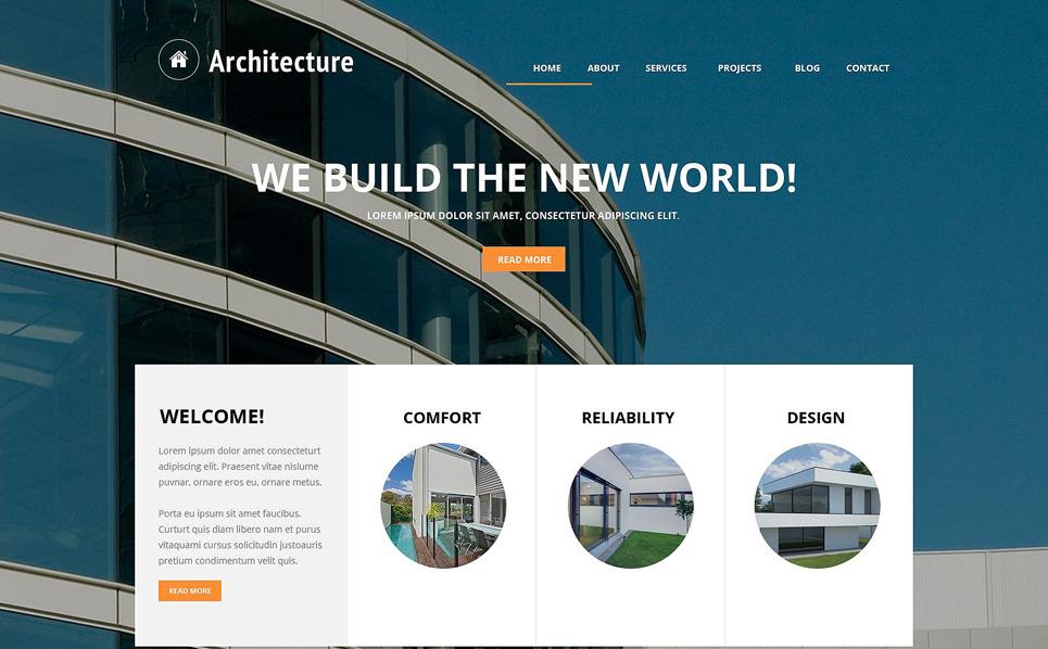 Responsive Joomla Template over Architectuur New Screenshots BIG