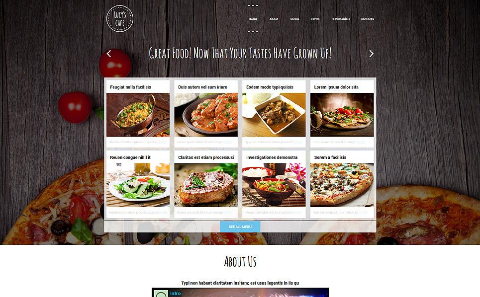Template Joomla Flexível para Sites de Cafeteria №51957 New Screenshots BIG