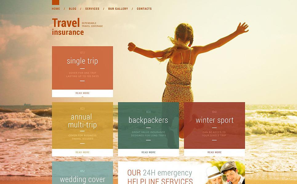 Responzivní Šablona webových stránek na téma Pojištění New Screenshots BIG
