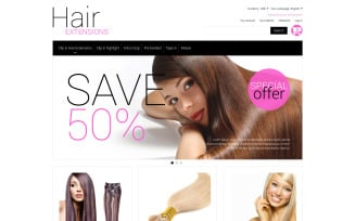 Multipurpose Hair Extensions Magento Theme