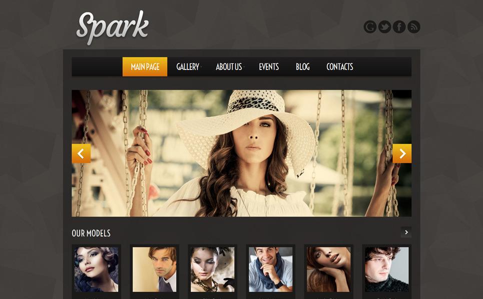 Reszponzív Modell ügynökségek WordPress sablon New Screenshots BIG