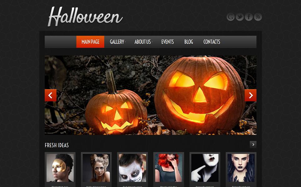 Reszponzív Halloween témakörű  WordPress sablon New Screenshots BIG
