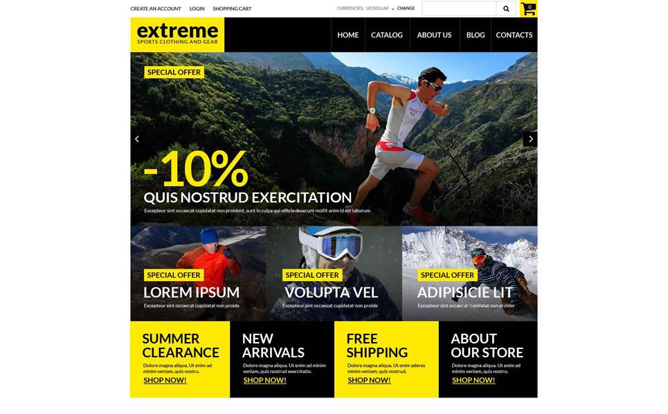 Responsive VirtueMart Template over Extreme Sporten  New Screenshots BIG