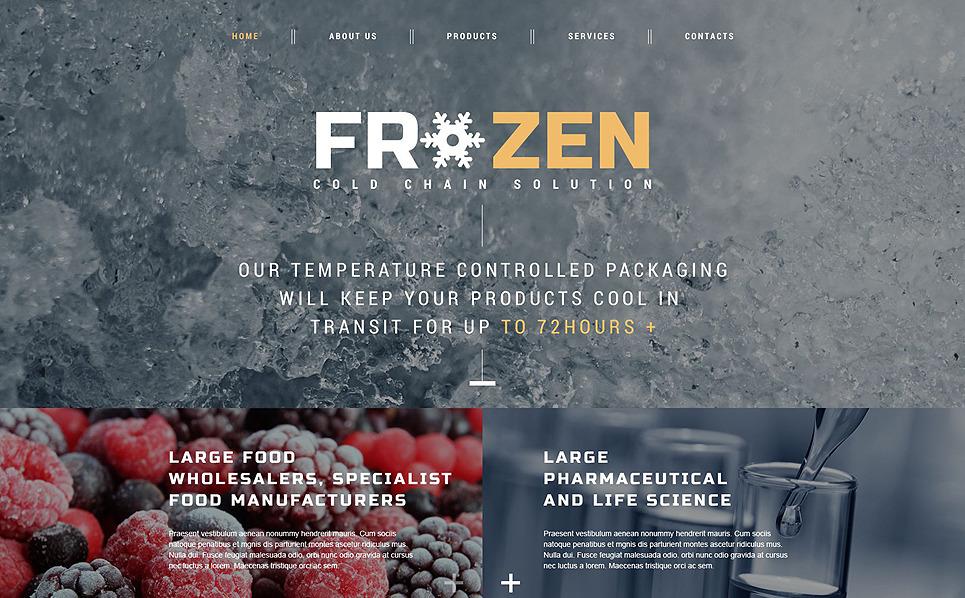 Responsive Website template over Bevroren Voedsel  New Screenshots BIG