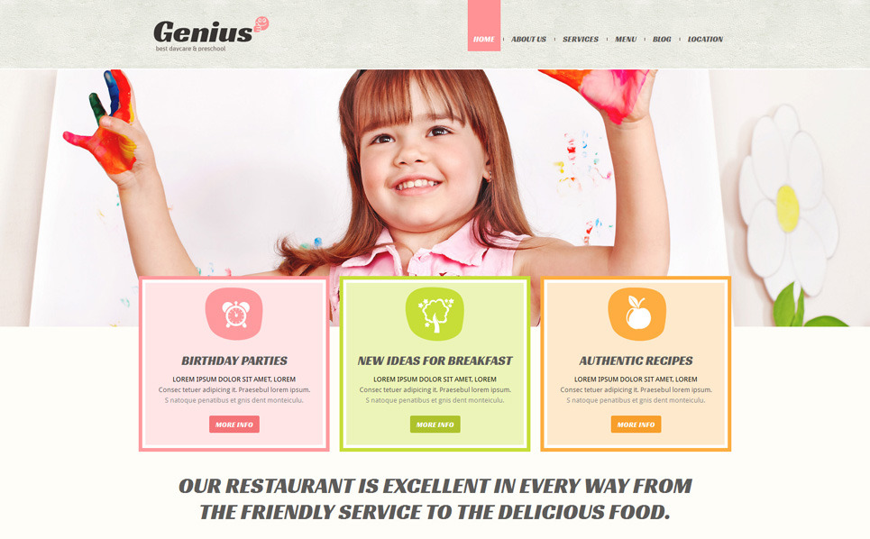 Responsive Joomla Template over Kindercentrum New Screenshots BIG