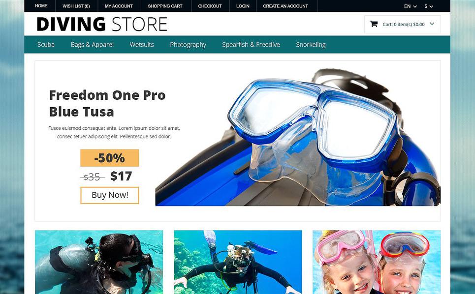 Responsywny szablon OpenCart #51983 na temat: nurkowanie New Screenshots BIG