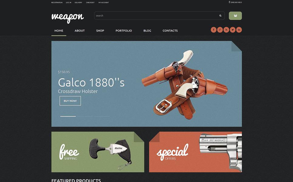 Responsive WooCommercie Thema over Wapenwinkel  New Screenshots BIG