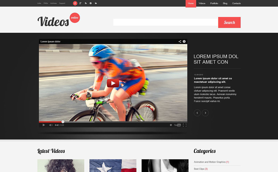 Reszponzív Videóstúdiók WordPress sablon New Screenshots BIG