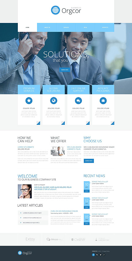 Business promotion wordpress theme website templates wajeb