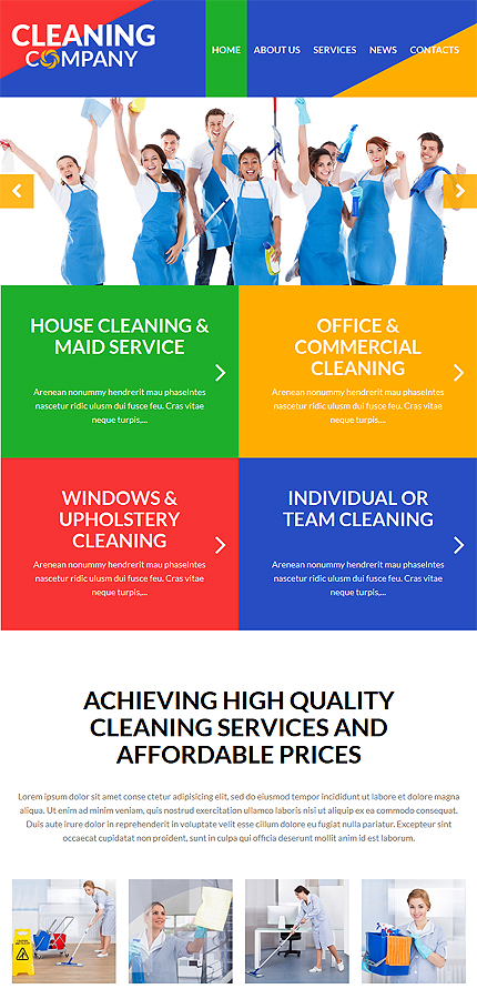 cleaning services wordpress theme website templates. Black Bedroom Furniture Sets. Home Design Ideas