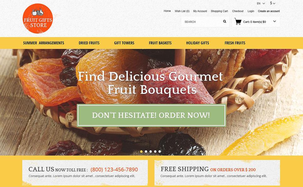 """""""Cadeaux de fruits"""" thème OpenCart adaptatif New Screenshots BIG"""