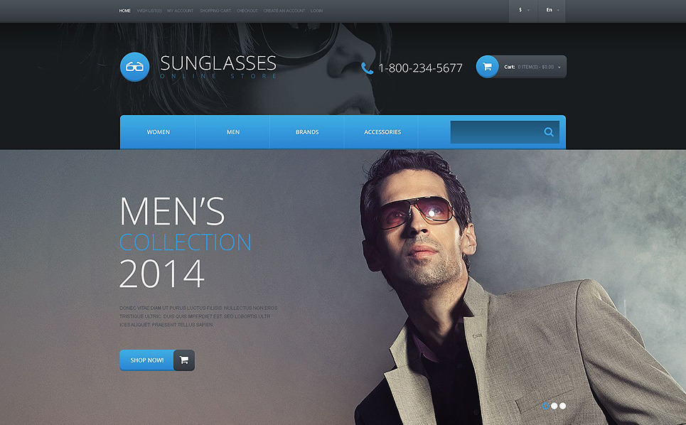 Reszponzív Szemüvegek OpenCart sablon New Screenshots BIG