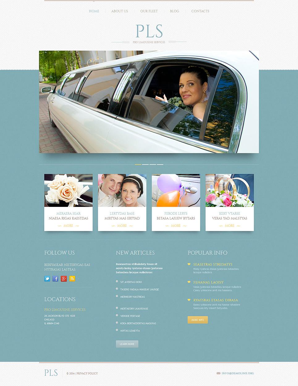 Адаптивный шаблон сайта на тему прокат лимузинов #51909