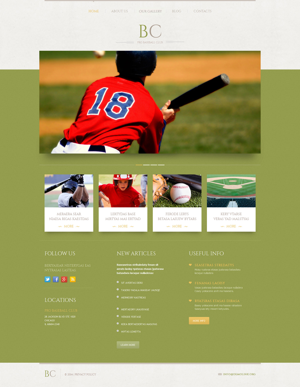 Адаптивный WordPress шаблон №51910 на тему бейсбол