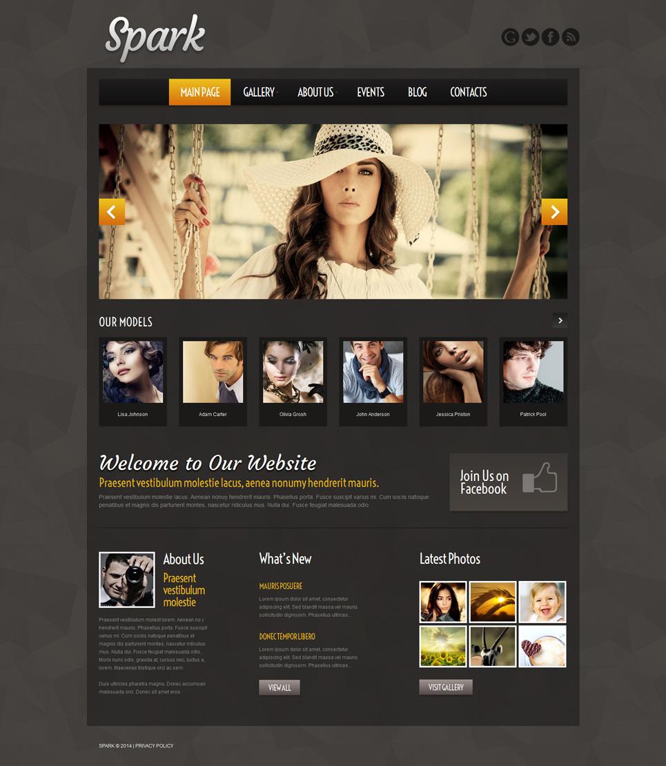 Адаптивный шаблон сайта на тему модельное агентство #51971
