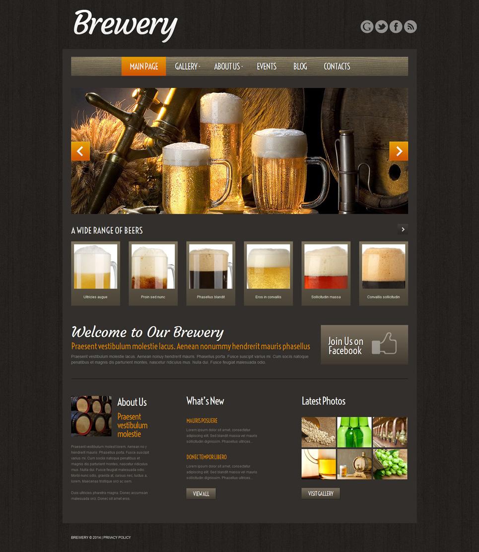 Адаптивный шаблон сайта на тему пивоварня #51974