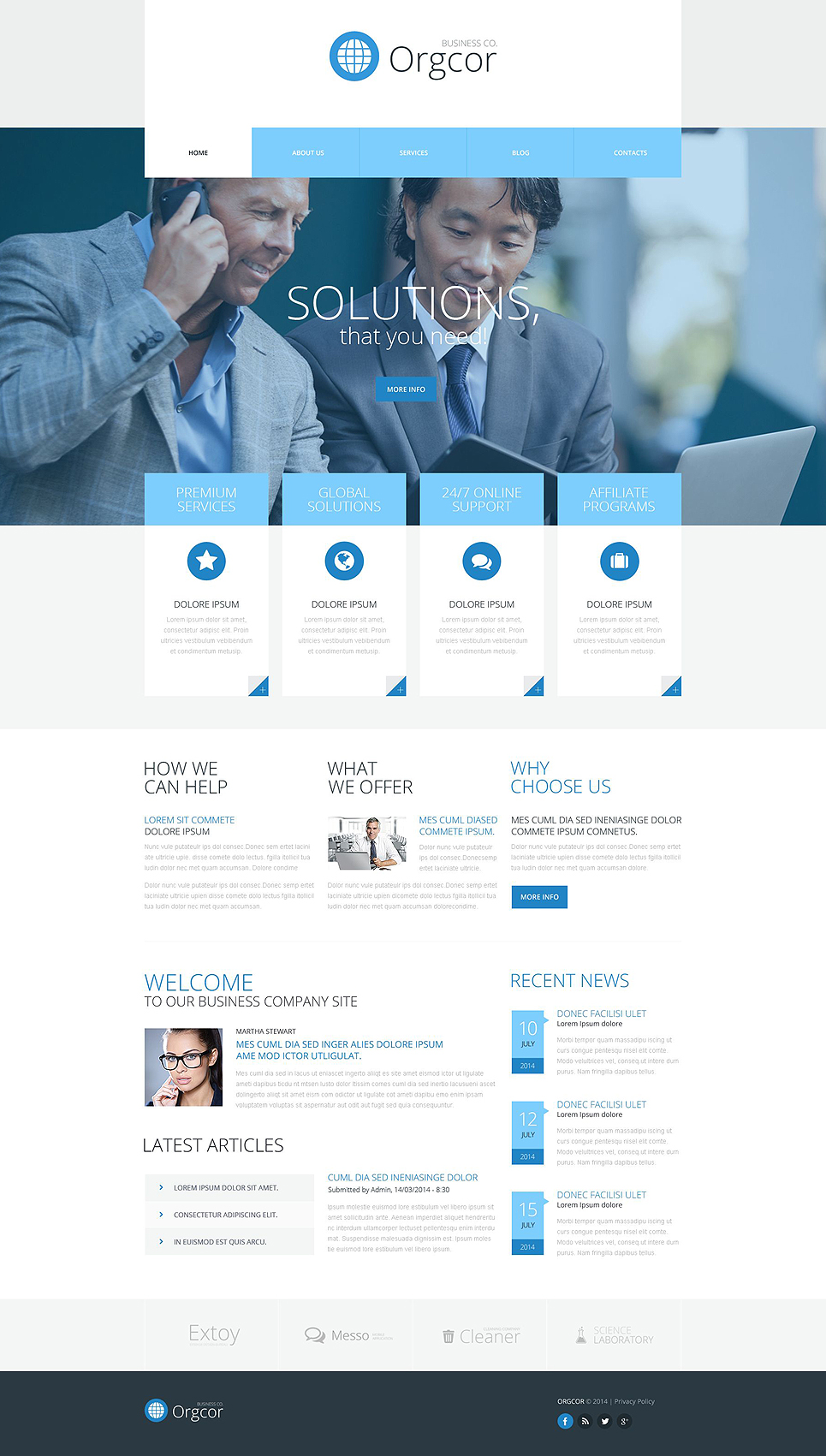 Адаптивный шаблон сайта на тему бизнес и услуги #51990